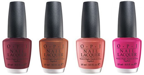 OPI Australia 2007 colors