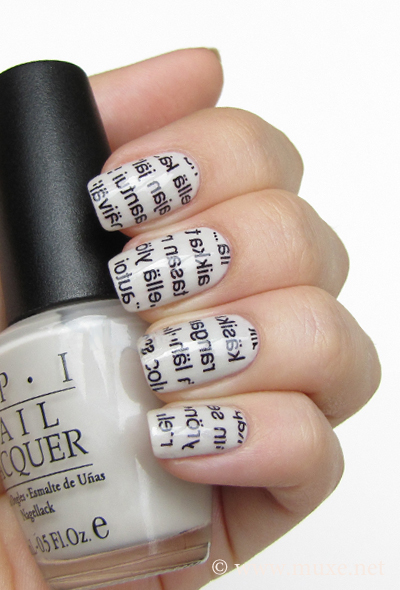 Newspaper nails design