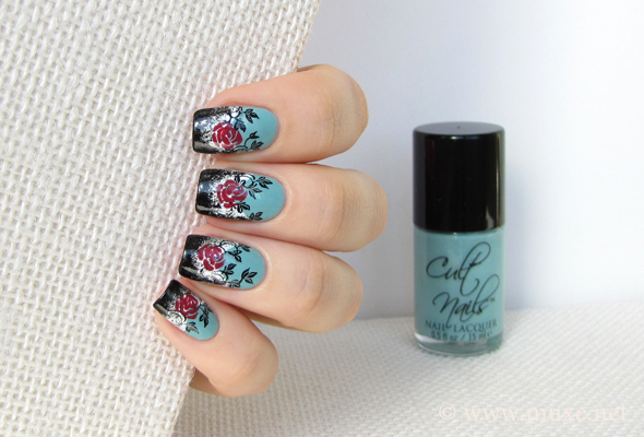 Roses on nails design