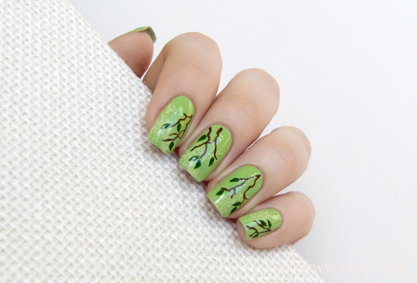 Earth Day green nails