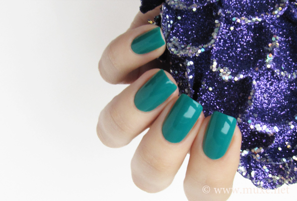 Green blue nail polish swatches