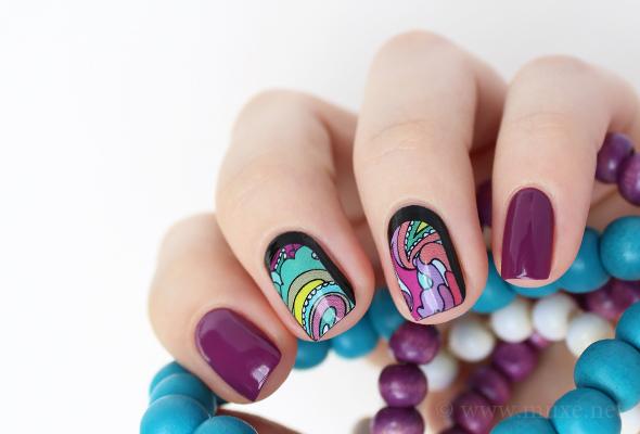 Paisley nail wraps