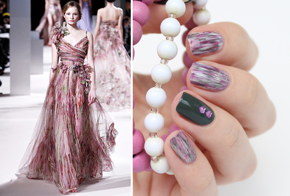 Fashion inspired nails design