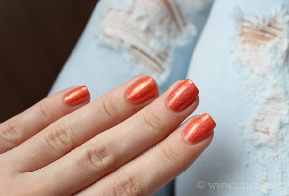 Orange nails, blue jeans