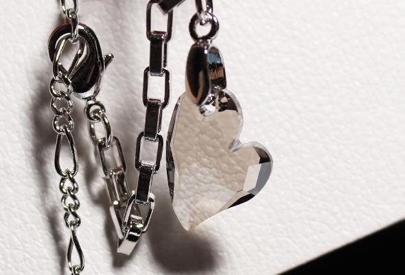 Crystal black heart bracelet SOUFEEL