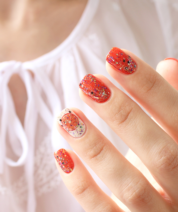 Orange nail polish review swatch