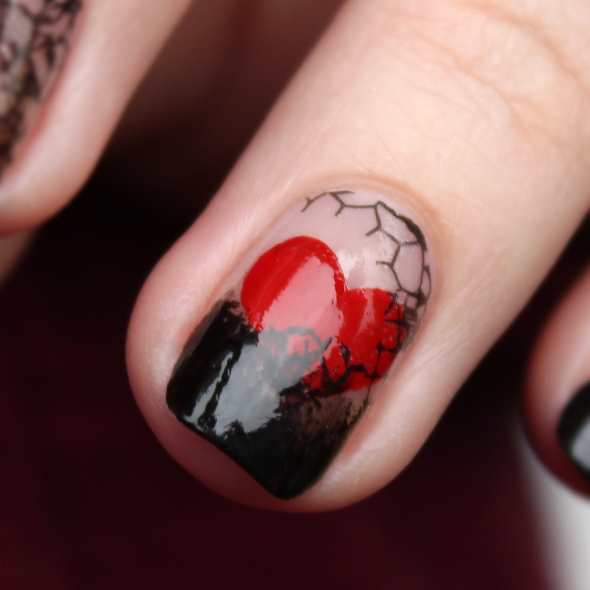 St. Valentine's Day hearts nail design