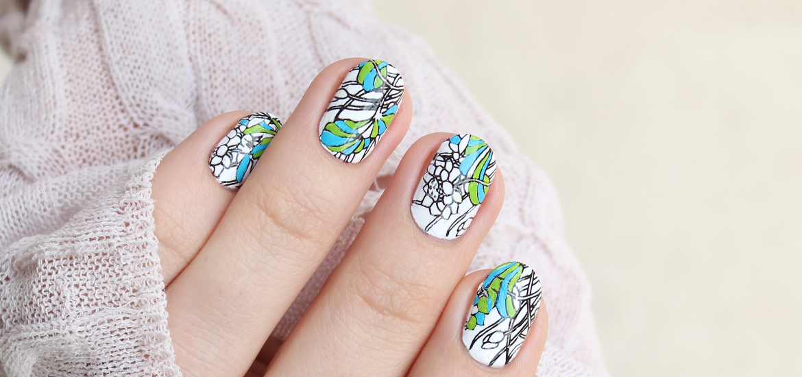 Floral stamping with BP-80 plate