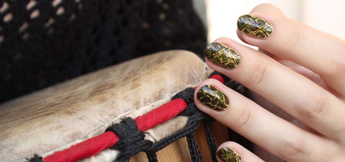 Africa Safari nail design