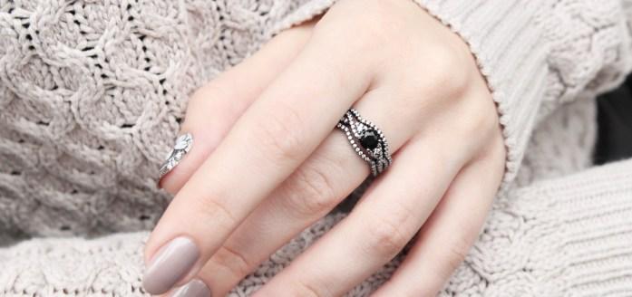 Black gold ring SOUFEEL