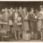 "American women's jazz band ""Ingenues"", Central Station, Sydney, late 1920's / Sam Hood"