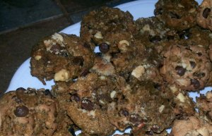 Triple chocolate coffee spiced pumpkin cookies2