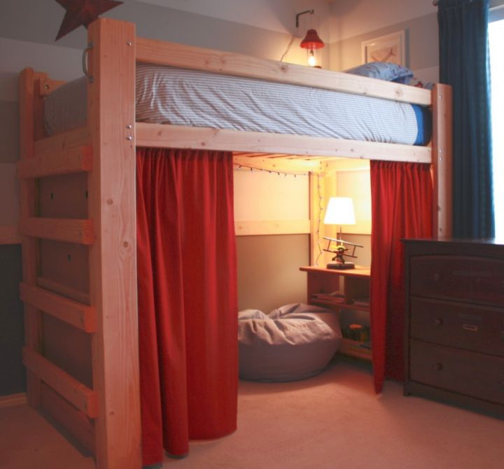 19 cool adult loft bed with stairs designs for Cool bed ideas for small spaces