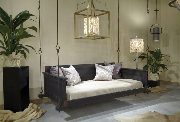 18 homely hanging bed designs that will swing you to sleep for Indoor hanging bed