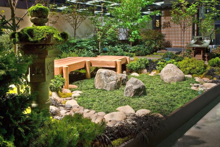 Small japanese garden design ideas with statue for Small japanese garden designs