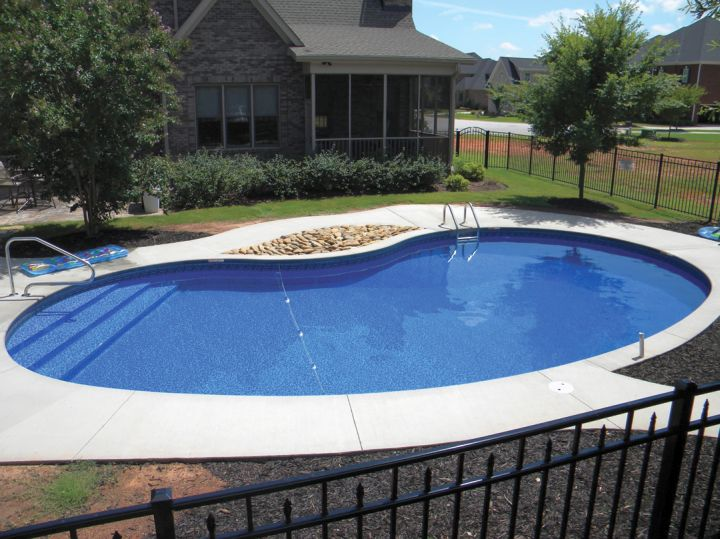 Above ground kidney shape pool for Kidney shaped pool designs