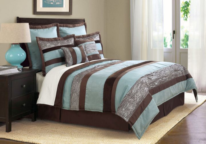17 romantic brown and blue bedroom ideas for Blue and brown bedroom