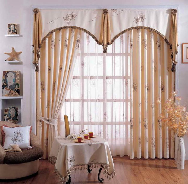 17 various types of valances to accentuate your curtains. Black Bedroom Furniture Sets. Home Design Ideas