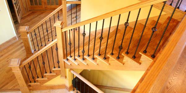 18 Stylish Wood Staircase Designs for Rustic Interior Decoration
