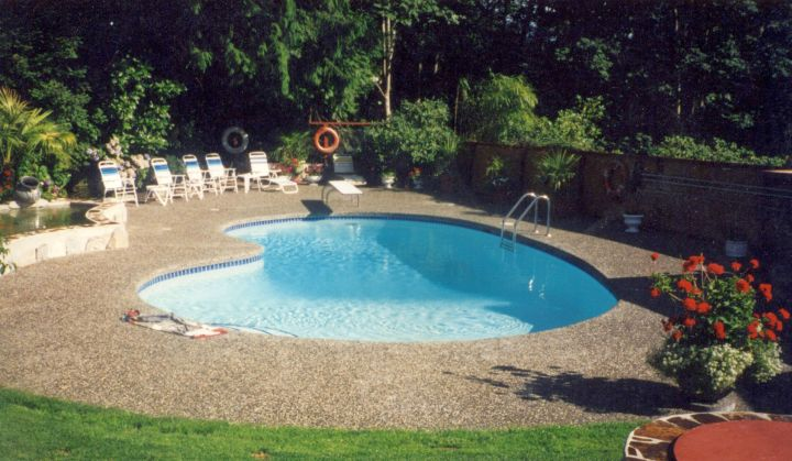 Kidney shape pool for small yard for Kidney shaped pool designs