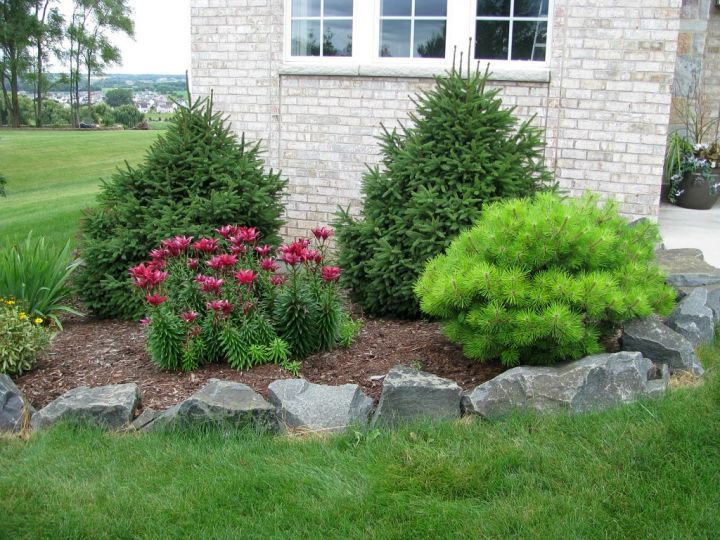 18 simple and easy rock garden ideas for Rock garden designs front yard