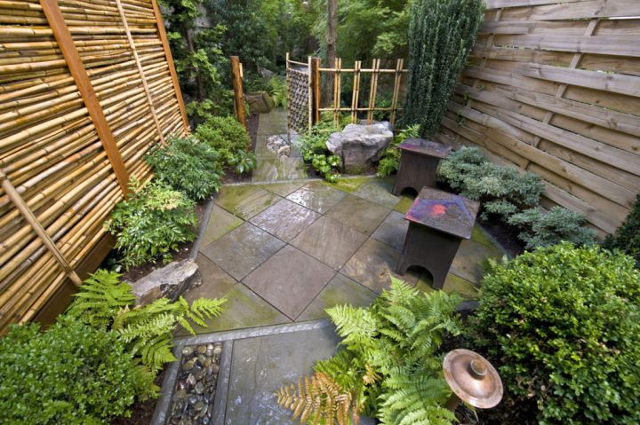 Simple rock garden ideas for small space - Small space garden design ideas set ...