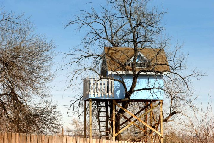how to build a treehouse on stilts