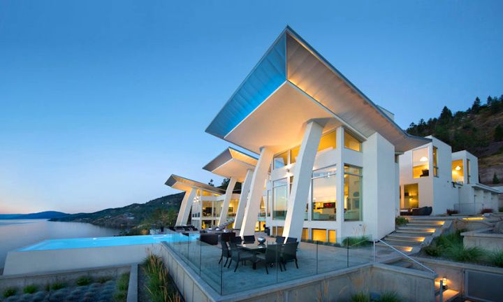 Ultra modern lake house by all elements canada for Ultra modern homes for sale