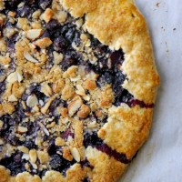 Almond Streusel-Topped Blueberry Galette