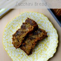 Vegan Dark Chocolate Chip Zucchini Bread