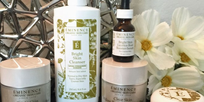 eminence-organics skin brightening collection