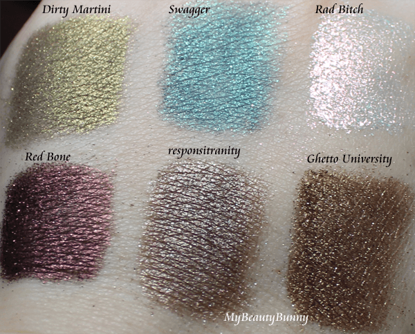 Swagger Cosmetics Swatches and Review