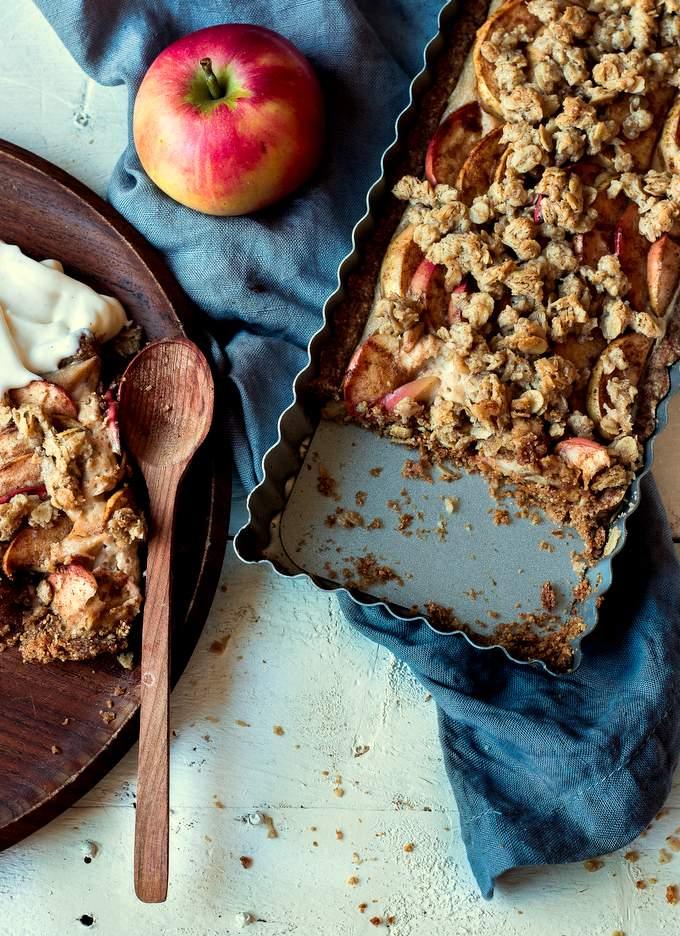 Vegan Gluten-free Apple Cheesecake Tart. Myberryforest.com