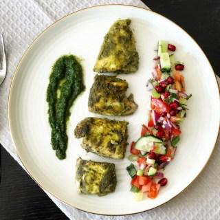 Healthy Hariyali Masala Fish