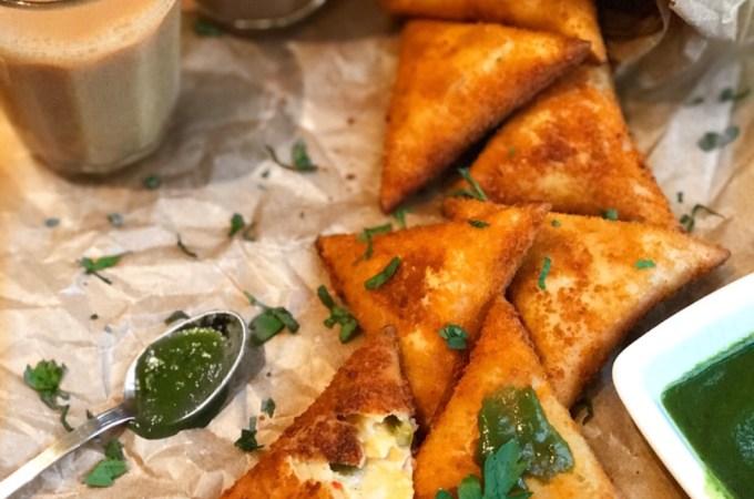Jalapeño, Chicken and Cheese Samosas Recipe
