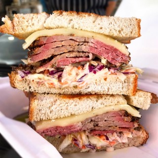 HALAL PASTRAMI SANDWICHES AT BOBATA