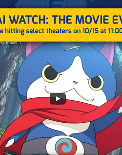 Yo-kai Watch: The Movie in Theaters Near You for 1 Day Only!