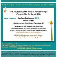 Rabbit Care Seminars - Date and Topic Change
