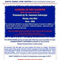 Rabbit care Seminar July 23