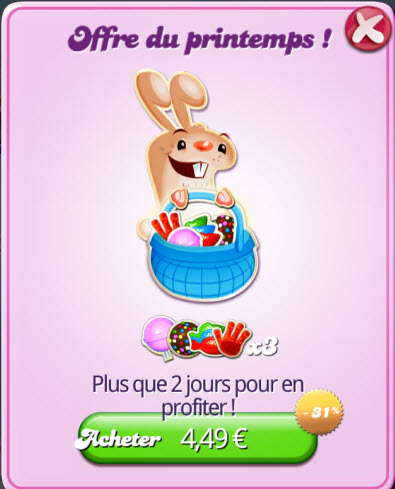 Candy Crush Saga - Offre du Printemps