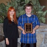 Zach Hoboda with Stacy Stableford, his Spanish teacher, who nominated him for the Good Samaritan Award.