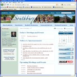 Southbury's homepage, which is maintained by QScend technologies (click to visit)