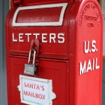 Santa's mailbox is open for business.