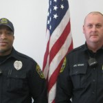 Officers Thomas Grant, left, and Bryan Coney saved the life of a Naugatuck man. - PHOTO SUBMITTED