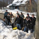 Scouts and adult leaders from Boy Scout Troop 258 in Prospect spent several hours during a recent weekend helping many of their elderly and disabled neighbors by clearing snow from the mailboxes.