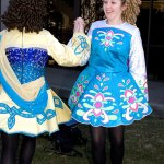 Alyssa Gaskin, left, of Waterbury and Jianna Vaccarelli of Prospect perform an Irish dance as part of St. Patrick's Day celebrations in Naugatuck. The dancers are students at the Horgan Academy of Irish Dance in Naugatuck.