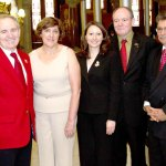 From left, Armando Goncalves, Gracinda Lavado, state Rep. Rosa C. Rebimbas, Fernando Rosa, and Carlos S. Batista during the Day of Portugal celebration at the State Capitol on Friday, June 10. CONTRIBUTED
