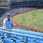 Citizen's News contributing sports writer Ernie Bertothy at the Rogers Centre, the home of the Toronto Blue Jays, earlier this summer. CONTRIBUTED