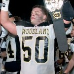 Mike Stankus was one of the top defensive players in Woodland history, helping the Hawks to back-to-back NVL and state championships. RA ARCHIVE
