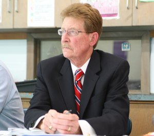 The Naugatuck Board of Education will meet this week with focus groups as part of the search to replace former Superintendent of Schools John Tindall-Gibson (pictured). –FILE PHOTO